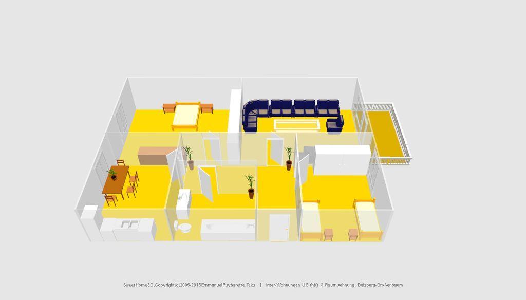tolle 3 raumwohnung mit balkon in duisburg gro enbaum youtube. Black Bedroom Furniture Sets. Home Design Ideas